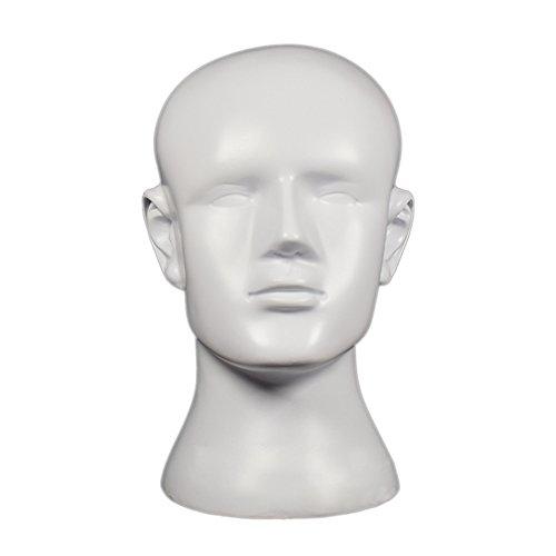 TankMR Schaum Haar Kopf Schimmel, Weibliches Modell, Dummy-Modell, Schaufensterpuppe Training, Haarverlängerungen, Hut Perücke Schmuck Halter Weiß