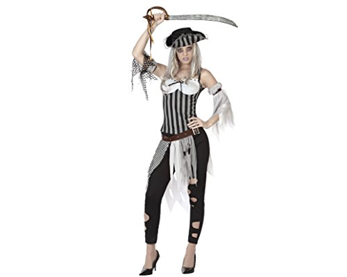 Generique - costume piratessa zombie donna halloween m/l