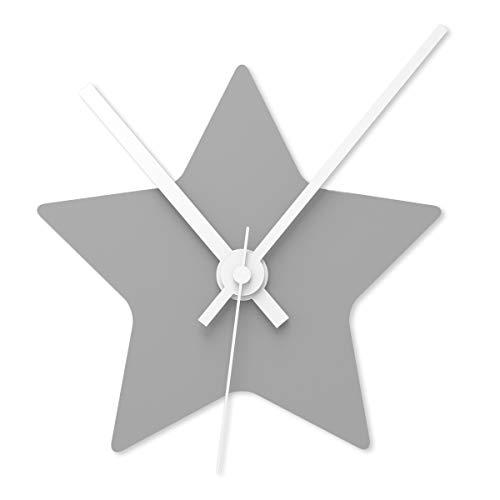 Wandkings Wanduhr SOLO CLOCK 'Stern' mit Uhrwerk & Uhrzeigern - in 13 Farben erhältlich (Farbe:...