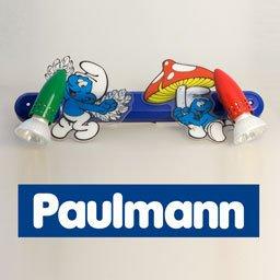 PAULMANN Kinderleuchte Schlümpfe (2x50W, 230V) Kinderzimmer/Wandlampe/Nachtlicht mit Comic-Motiv von PAULMANN - Lampenhans.de