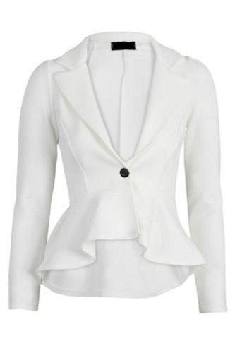 Nouveaux Femmes Grande Taille Taille vrille veste de blazer 36-52 Crème