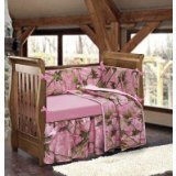 HiEnd Accents Realtree Oak Camo Crib Set, Pink by HiEnd Accents