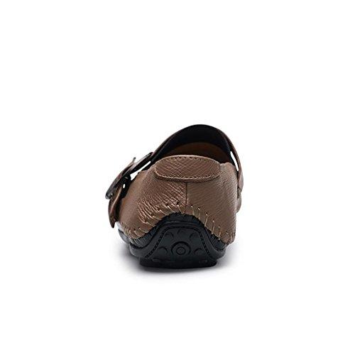 FADACAI Chaussures décontractées pour hommes Chaussures de conduite Chaussures de travail Chaussures d'affaires Chaussures paresseuses yellow