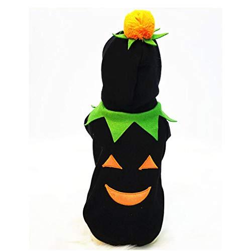 loween Kürbis Kostüm Fleece Mantel Jacken Kleidung für Hund Katzen Welpen verkleiden sich Party Halloween Weihnachten Ostern Festival Aktivität Bekleidung (Farbe : SCHWARZ) ()