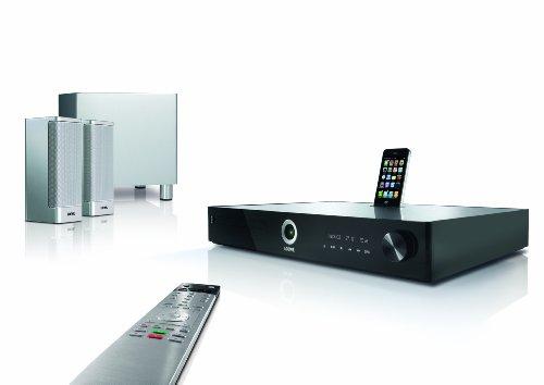 Loewe 50213T00 Home Cinema Set 2.1 3D-Blu-ray-Heimkinosystem, Aluminium/silber