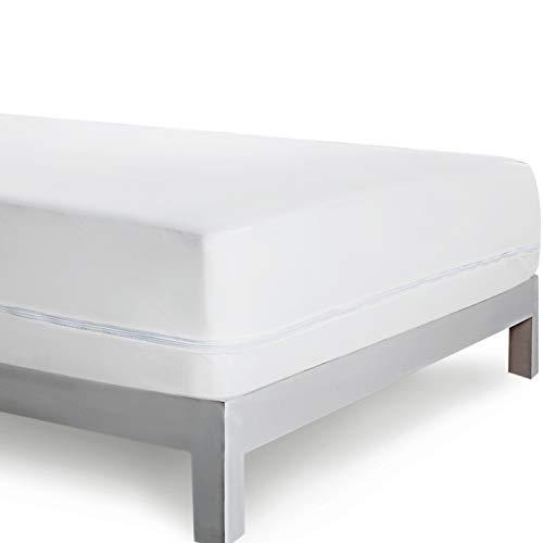 Bedsure Milbenbezug Encasing Matratzenbezug 140x200cm mit Reißverschluss - Wasserdichter Milbenschutzbezug Anti Milben Matratzenschutz für Matratze 30cm Höhe