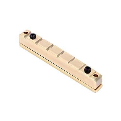 RiToEasysports Gitarrenstegmutter, 7-saitig Multiscale Gitarrenstegmutter E-Gitarren Ersatzzubehör Messing, Golden. (Gitarre Sieben-saitige)