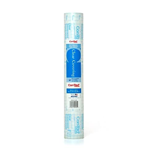 Con-Tact Brand Clear Covering Self-Adhesive Privacy Film and Liner, 18-Inches by 75-Feet, Clear