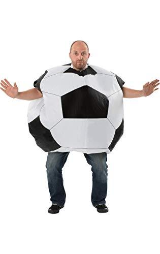 ORION COSTUMES Herren Riesiger aufblasbarer Fußball Junggesellenabschied (Fußball Fancy Dress Kostüm)