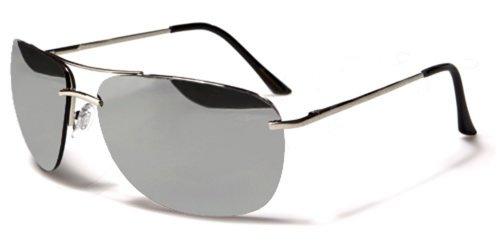 Air Force Aviator Sonnenbrillen - Pilotenbrille - Radfahren - Skifahren - Motorradfahrer / Mod. Pilot Silber