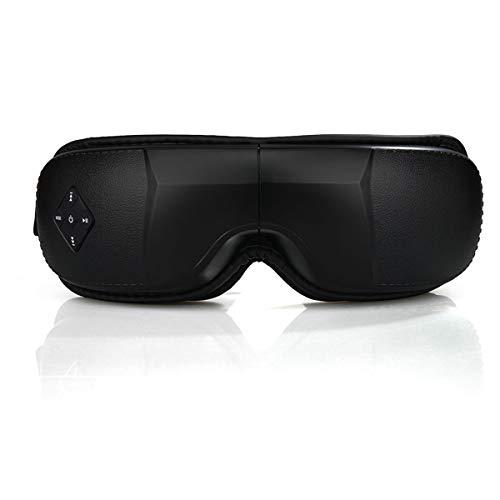 Preisvergleich Produktbild Faltbare Augenmaske,  für drahtloses Augenmassagegerät mit Mehrfrequenzvibration,  Druckpunktmassage-Schwarz