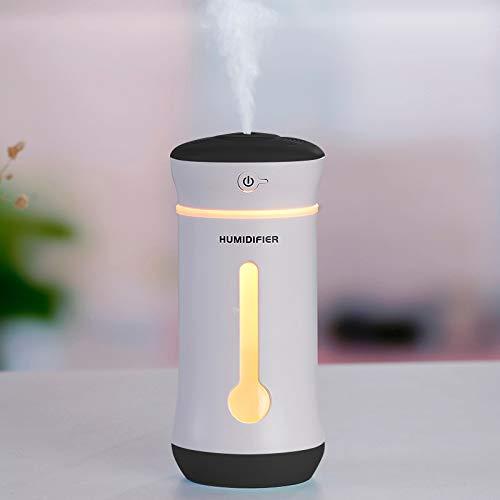 3 in 1 Multi-Funzione USB Charge Aroma Elettrico Essential Ultrasuoni Aromaterapia Fresco umidificatore Nebbia con Porta USB esteso, capacità: 300ml Deodorante per Auto umidificato