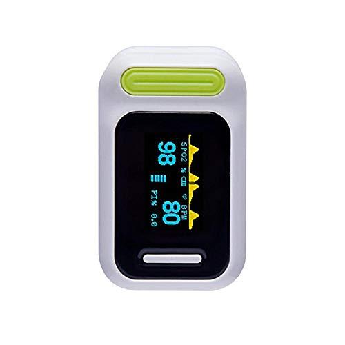 Pulsoximeter, Fingeroximeter - Oximeter Finger Spannungswarnung, Automatisches Herunterfahren, Atemfrequenzüberwachung und Schlafüberwachungsfunktion mit Zweifarbiges OLED Display, 6 Anzeigemodi,