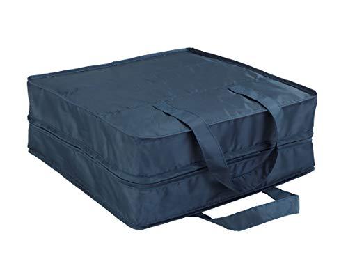 Wenko 64535100 Schuhtasche Business - Schuhbeutel, Schuhtasche mit 6 Fächern, 36 x 36 x 14 cm, Dunkelblau