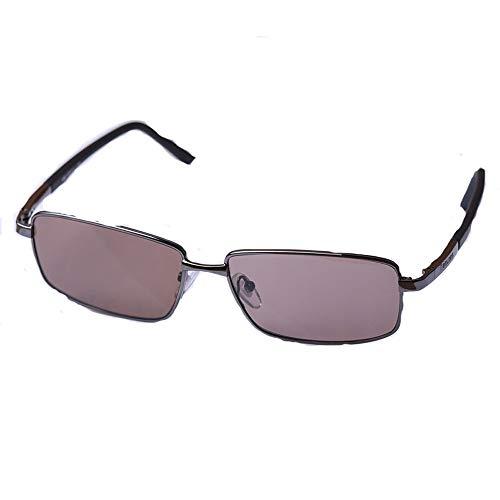 Sonnenbrillen - Sonnenschutz, Augenschutz, Stil for Herren und Damen, Retro, Fahrer mittleren Alters, Sonnenbrille, Fahren, Unnatürlich, Crystal Stone Glasses (Color : Brown)