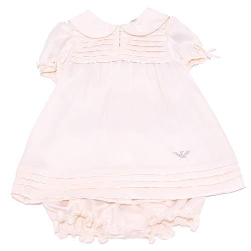1021Z Set completo Bimba Girl Armani Baby Silk Light pink Dress+Slip [3 Months]