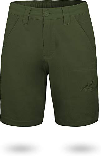 normani Herren Chino Bermuda Shorts Sommerhose, Kurze Hose - Sweatshorts mit Invisible Zipper aus Bio-Baumwolle (S-5XL) Farbe Oliv Größe XL Bio Chino