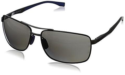 HUGO BOSS 0697/P/S Sunglasses 0AAB Black Dark Ruthenium 63-15-135
