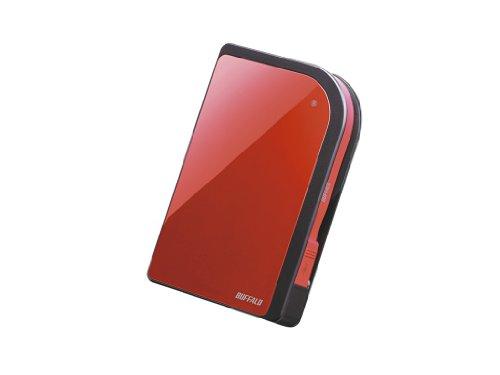 Buffalo HD-PZ500U3R-EU 500GB externe Festplatte (6,4 cm (2,5 Zoll), 5400rpm, 8MB Cache, USB 3.0) rot
