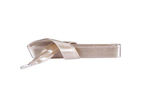 Gold Satin Schuhe (Kaps Satin Schnürsenkel - 1 Paar breite & flache Schuhbänder für z.B. Sneaker & Sportschuhe in Premiumqualität - hochwertige Flachsenkel & Schuhsenkel (120 cm - 6 bis 8 Ösenpaare in Beige))