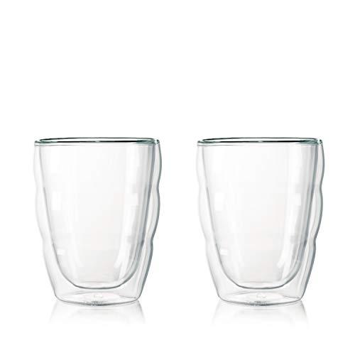 Bodum PILATUS 2-teiliges Gläser-Set (Doppelwandig, Isoliert, Spülmaschinengeeignet, 0,25 liters) transparent