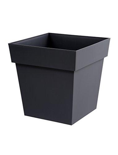 EDA Plastiques Pot carré TOSCANE Gris anthracite 39 x 39 x 39 cm 13627 G.ANT SX3