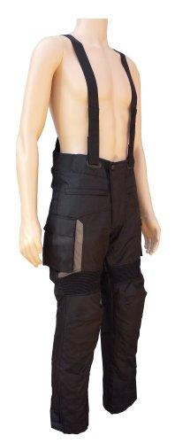 Textil Motorrad Hose mit abnehmbaren Trägern, wasserdicht, & Schutz (Bib Schutz)