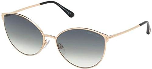 Tom Ford Sonnenbrillen ZEILA FT 0654 Shiny Rose Gold/Grey Shaded Damenbrillen
