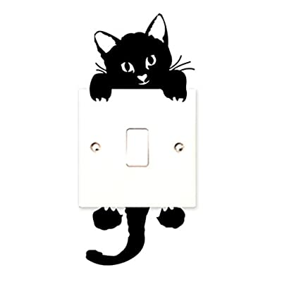 Tonsee® Switch Cat Wall Stickers Light Switch Decor Decals Art Mural Baby Nursery Room - cheap UK light store.