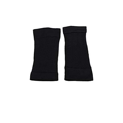 1 Paar bequeme Frauen Compression Sleeves Arm Fat Wrap Shaper elastischer Arm Warmer Deckel schwarz