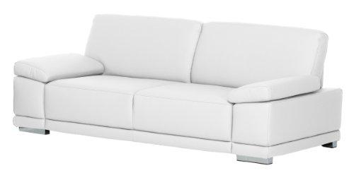 Cavadore 3-Sitzer Ledersofa Corianne / Couch in hochwertigem Echtleder im modernen Design / Mit Armteilverstellung / Größe: 217 x 80 x 99 (BxHxT) /...