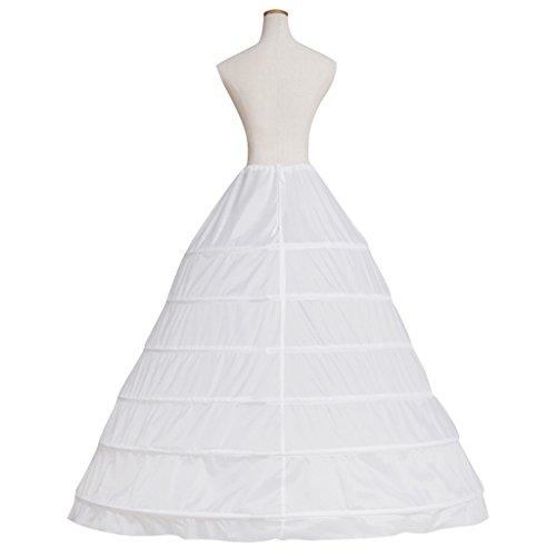 Cosplayitem Unterrock Petticoat Underskirt Crinoline für Prinzessin Kleid Wedding Bridal White 6 Reifen