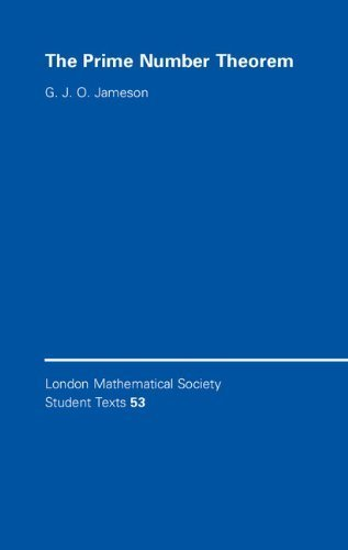 The Prime Number Theorem (London Mathematical Society Student Texts) by Jameson, G. J. O. (2003) Paperback