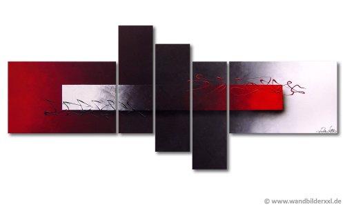 """WandbilderXXL® Handgemaltes Bild """"Opposites Attract"""" in 160x60x2cm fertig gespannt auf Holzkeilrahmen Moderne große Wandbilder Leinwandbilder Bilder Wohnzimmer"""