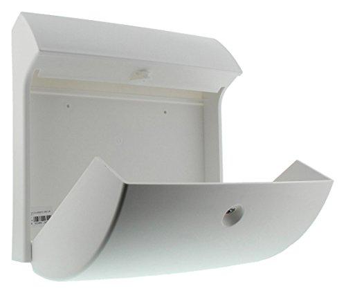 BURG-WÄCHTER, Kompakter Briefkasten mit Öffnungsstopp, A4 Einwurf-Format, Vollkunststoff, Classico 4931 W, Weiß - 4