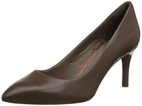 Rockport Total Motion 75mm Pth Plain Pump, Zapatos de tacón con Punta Cerrada para Mujer, Marrón Brown...
