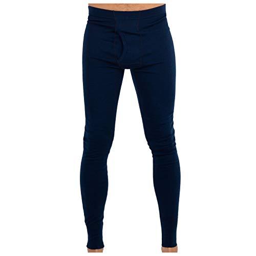 Midweight Wolle Lange Unterwäsche (MERIWOOL Herren Merino Wolle Midweight Baselayer Unten-Wählen Sie Ihre Farbe und Größe, Herren, Navy, XX-Large)