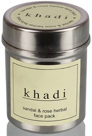 Khadi Sandal and Rose Herbal Face Pack, 50g  available at amazon for Rs.90