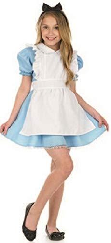 Fancy Me Mädchen Traditionell Alice Im Wunderland Buch Tag Woche Verkleidung Kleid Kostüm Outfit 4-12 Jahre - Blau, 4-6 Years (Traditionelle Alice Im Wunderland Kostüm)