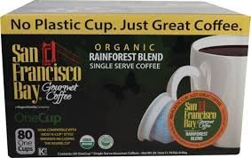 San Francisco Bay Rainforest Blend, 80 One Cups Organic Coffee by Rogers