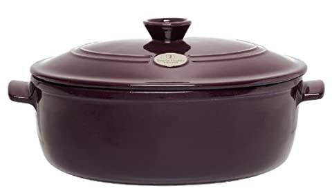 Emile Henry Oval Stewpot Figue 31cm