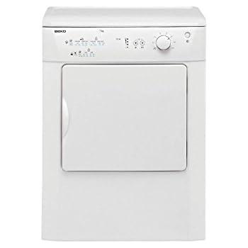 Beko DRVT71W Freestanding Front-Load C White–Tumble Dryer 7kg (Freestanding, Front Loading, Evacuation, White, Right, 104(L)