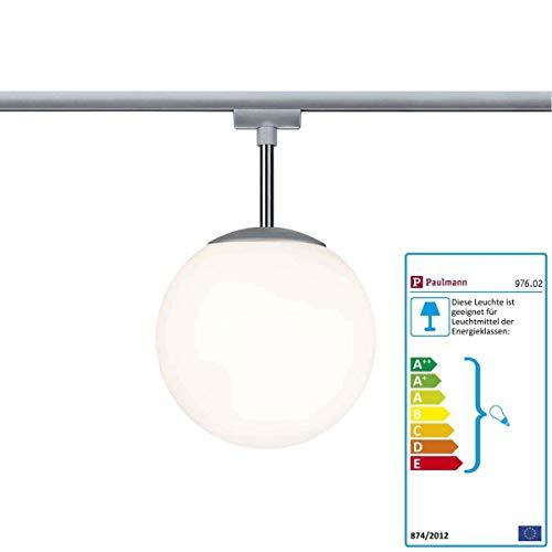 Paulmann Pendelleuchte URail Ceiling Globe Small max 1x10W E14 Chr m/Opal 230V Metall/Glas dimmbar | 10W | 976.02