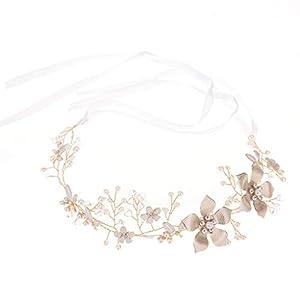 Crylee Stück U-förmig Haarspange mit Kristallen Braut Haarschmuck, für Frauen und Mädchen, Kommunion Party, Hochzeit Braut
