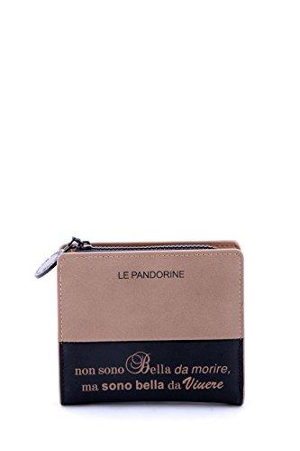 Le Pandorine Ai16dam01942 Portafoglio Accessori Ecopelle Marrone Marrone TU