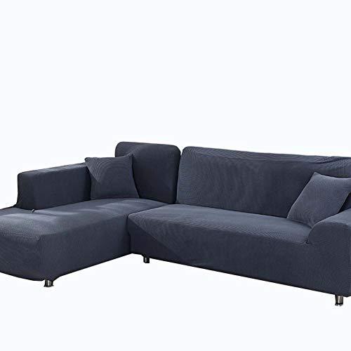 Dadao slipcovers divano per soggiorno, tutto compreso combinazione divano copertine cotone protezioni 2 posti a 3 posti-grigio 190-230cm(75-91inch)