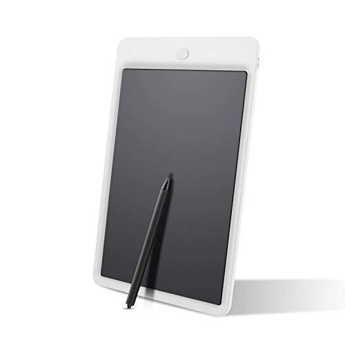 LEXPON 10-Zoll-Schreiben Graffiti-Grafik-Tablet zum Zeichnen von Tabletten mit Stylus Pen-Grafiktablett Fuer Kinder-Kind Memo Board LCD Draw Note Weiss