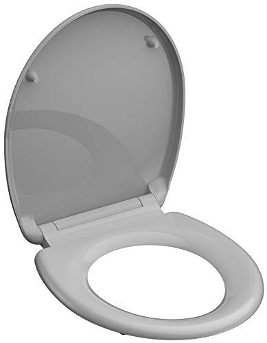 grigio Sedile WC Duropl con abbassamento automatico e chiusura rapida SCH/ÜTTE 82302