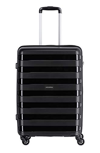 """Travelite Farbenfrohe, lässige Hartschalen-Trolleys der Serie """"Nova"""" machen jede Reise zum bunten Abenteuer Koffer, 66 cm, 67 Liter, Schwarz"""