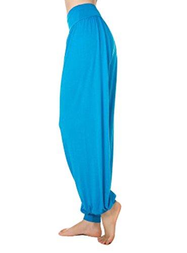 Scothen Mesdames pantalons survêtement Uma Pant doux pantalon spandex Yoga Pilates 16 couleurs sarouel bloomers sarouel confortable douce Yoga Modal Pant stretch Sport Aladin Lounge Pants Fitness LumièreBleu